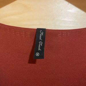 Dress button details on back